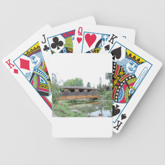 Covered Bridge Summer Bicycle Playing Cards