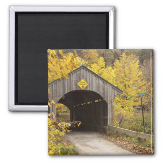 Covered bridge, Vermont, USA 2 Square Magnet