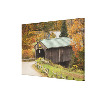 Covered bridge, Vermont, USA Canvas Print