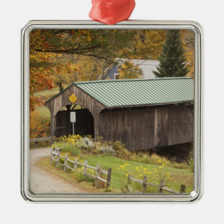 Covered bridge, Vermont, USA Christmas Ornament