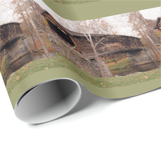 Covered Bridge Wrapping Paper