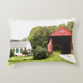 Covered Bridges Decorative Cushion