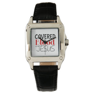 COVERED BY BLOOD OF JESUS Women's Leather Watch