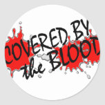 Covered by the Blood Round Sticker