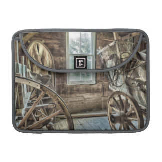Covered wagon, wooden wagon wheel sleeves for MacBooks