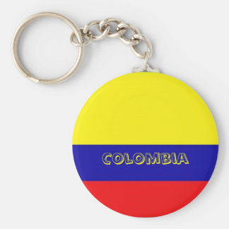 Coverered Colombia flag key chain