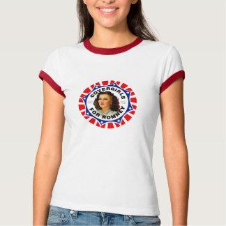 Covergirls for Mitt Romney ladies ringer-T T Shirts