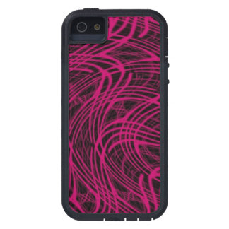 Covering blown waves pink iPhone 5 case