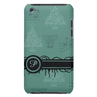 Covering, with Christmas background Barely There iPod Cover