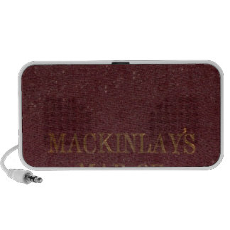 Covers to Mackinlay's map Laptop Speaker