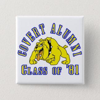 COVERT ALUMNI Class of '81 15 Cm Square Badge