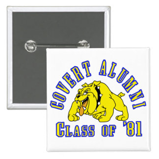 COVERT ALUMNI Class of '81 15 Cm Square Badge