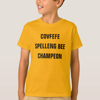 COVFEFE SPELLENG BEE CHAMPEON | funny boy's shirt