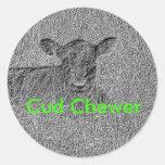 COW3 CLASSIC ROUND STICKER