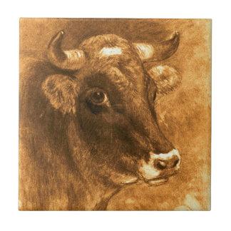 Cow 1880 tile