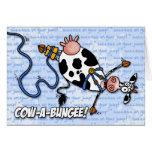 cow-a-bungee - success on your jump greeting card