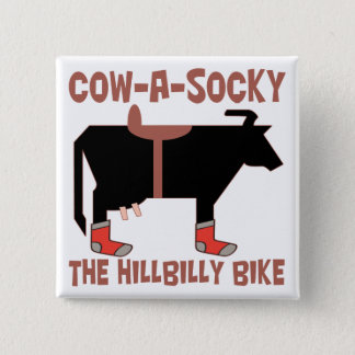 Cow A Socky 15 Cm Square Badge