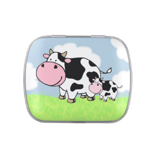 Cow and Baby Jelly Belly Tins