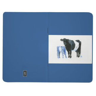 Cow and calf in shades of blue notebook