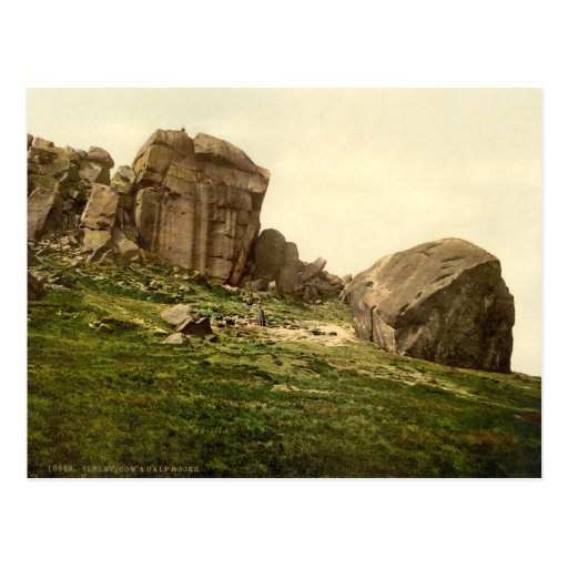 Cow and Calf Rocks, Ilkley, Yorkshire, England Post Cards