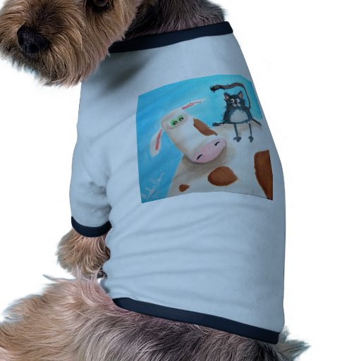 COW AND CAT PET TSHIRT