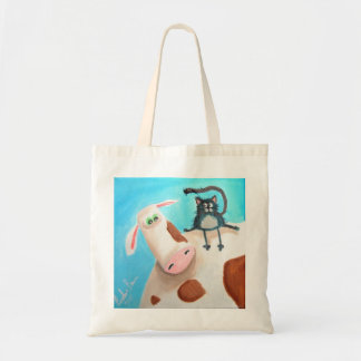 COW AND CAT TOTE BAG
