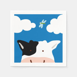 Cow and Dragonfly Disposable Serviettes