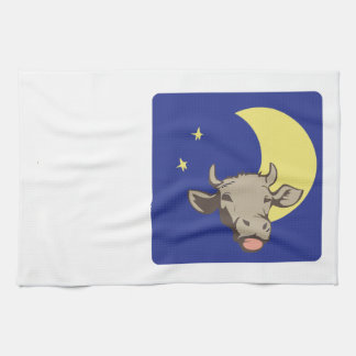 Cow And Moon Tea Towel
