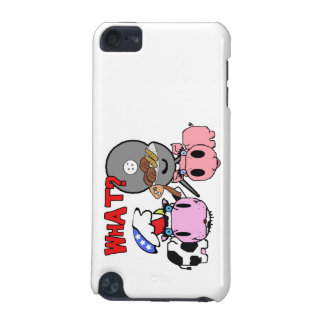 Cow and Pig Schnozzles Barbecue BBQ Cartoon iPod Touch (5th Generation) Case