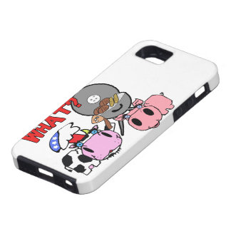 Cow and Pig Schnozzles Barbecue BBQ Cartoon iPhone 5 Cases