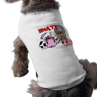 Cow and Pig Schnozzles Barbecue BBQ Cartoon Sleeveless Dog Shirt