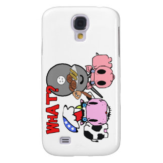 Cow and Pig Schnozzles Barbecue BBQ Cartoon Galaxy S4 Case
