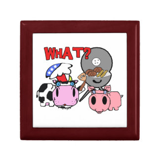 Cow and Pig Schnozzles Barbecue BBQ Cartoon Gift Boxes