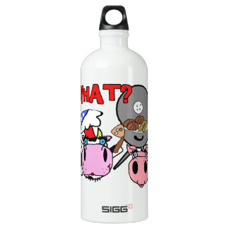 Cow and Pig Schnozzles Barbecue BBQ Cartoon SIGG Traveller 1.0L Water Bottle