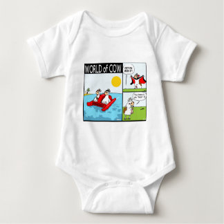Cow and Udder Play Fetch, Cow Dracula and Holiday Baby Bodysuit