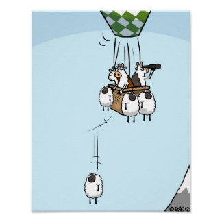 Cow Ballooning Poster