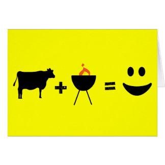 cow bbq happy card