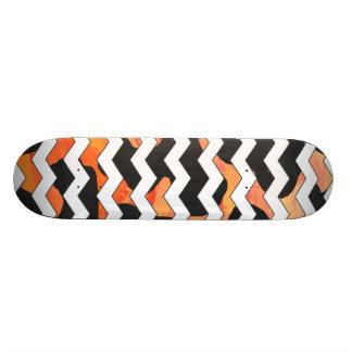 Cow Black and Orange Print Custom Skate Board