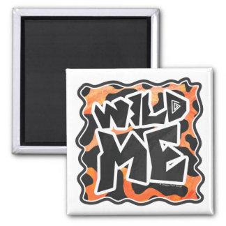 Cow Black and Orange Wild Me Square Magnet