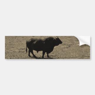 Cow Black bull Sepia Tone Photo Bumper Sticker