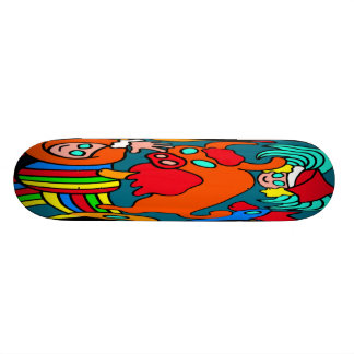 Cow Bull and Girls Childrens Cartoon Custom Skate Board