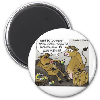 Cow Bull Divorce Funny Cartoon Gifts Tees Refrigerator Magnet
