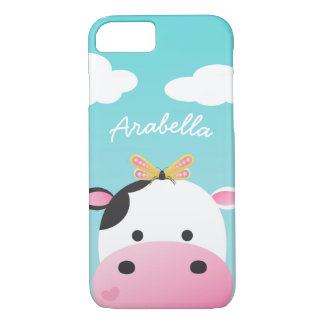 Cow & Butterfly BFFs Custom Name iPhone 8/7 Case