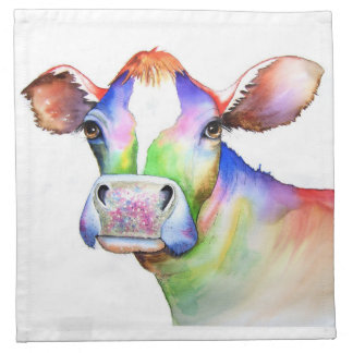 Cow by Maria Moss Napkin