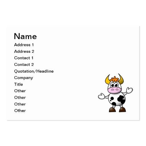 Cow cartoon business card templates