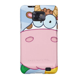 Cow Cartoon Character Samsung Galaxy SII Cover