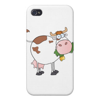 Cow Cartoon Character Cover For iPhone 4