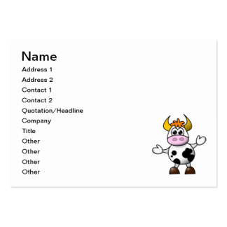Cow cartoon pack of chubby business cards