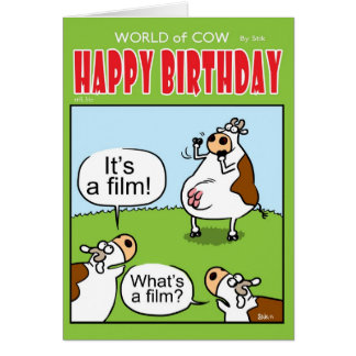 Cow Charades Card