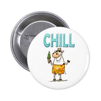 Cow Chill 6 Cm Round Badge